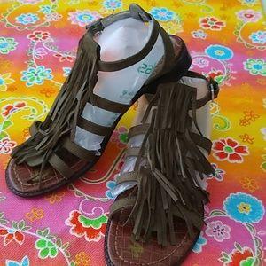 Sam Edelman Strappy Fringe Sandals